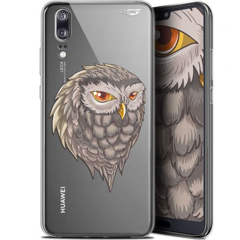 "Extra Slim Gel Huawei P20 (5.8"") Case Design Hibou Draw"