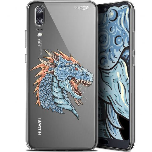 "Extra Slim Gel Huawei P20 (5.8"") Case Design Dragon Draw"