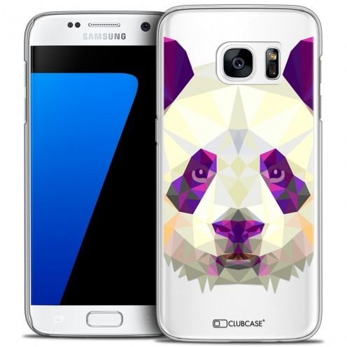 Extra Slim Crystal Galaxy S7 Case Polygon Animals Panda