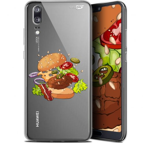 "Extra Slim Gel Huawei P20 (5.8"") Case Design Splash Burger"