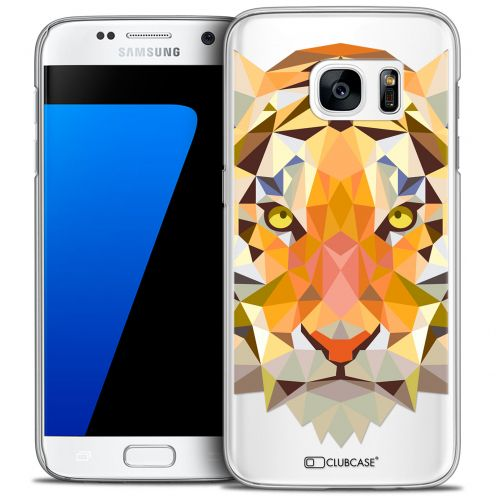 Extra Slim Crystal Galaxy S7 Case Polygon Animals Tiger
