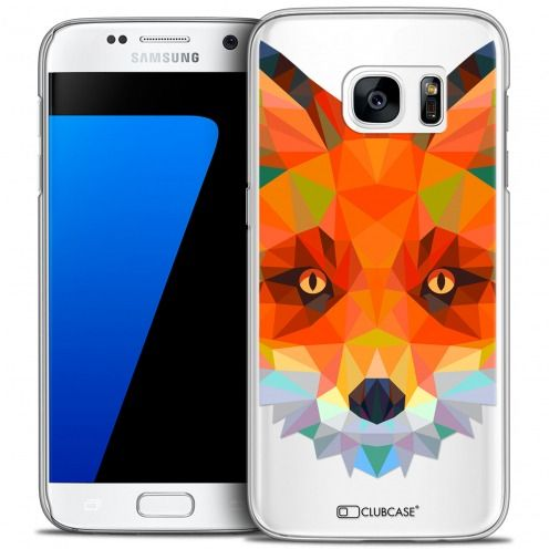 Extra Slim Crystal Galaxy S7 Case Polygon Animals Fox