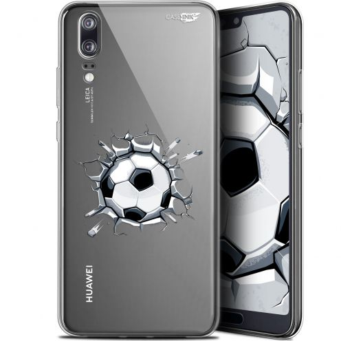 "Extra Slim Gel Huawei P20 (5.8"") Case Design Le Balon de Foot"