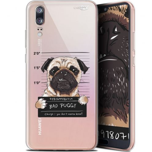 "Extra Slim Gel Huawei P20 (5.8"") Case Design Beware The Puggy Dog"