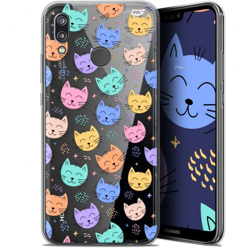"Extra Slim Gel Huawei P20 Lite (5.84"") Case Design Chat Dormant"