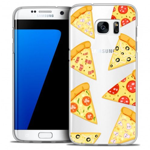 Extra Slim Crystal Galaxy S7 Edge Case Foodie Pizza