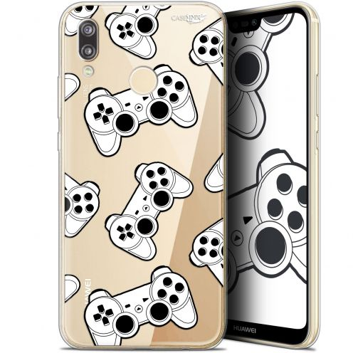 "Extra Slim Gel Huawei P20 Lite (5.84"") Case Design Game Play Joysticks"