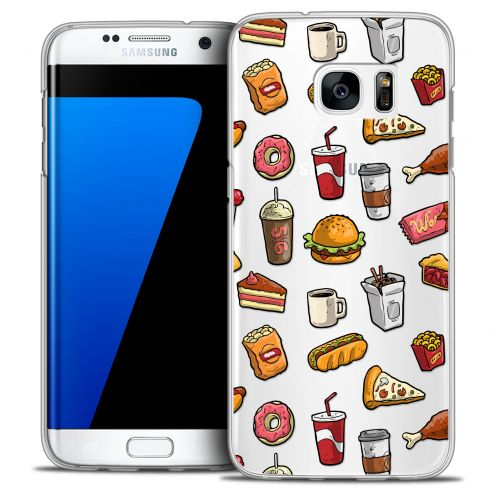 Extra Slim Crystal Galaxy S7 Edge Case Foodie Fast Food