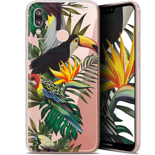 "Extra Slim Gel Huawei P20 Lite (5.84"") Case Design Toucan Tropical"