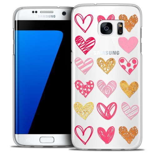 Extra Slim Crystal Galaxy S7 Edge Case Sweetie Doodling Hearts