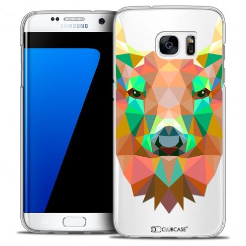 Extra Slim Crystal Galaxy S7 Edge Case Polygon Animals Deer