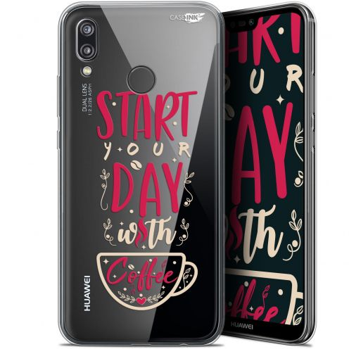 "Extra Slim Gel Huawei P20 Lite (5.84"") Case Design Start With Coffee"
