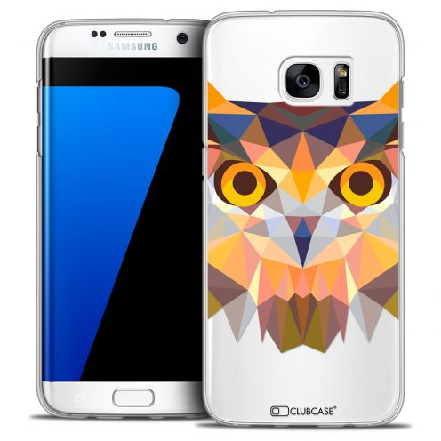 Extra Slim Crystal Galaxy S7 Edge Case Polygon Animals Owl