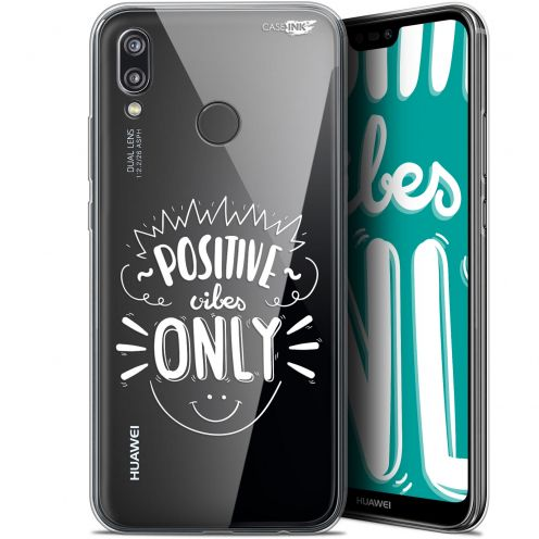 "Extra Slim Gel Huawei P20 Lite (5.84"") Case Design Positive Vibes Only"