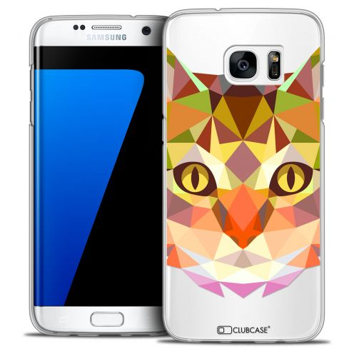 Extra Slim Crystal Galaxy S7 Edge Case Polygon Animals Cat