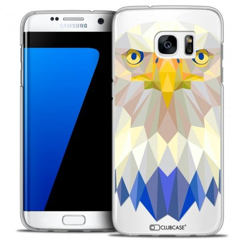 Extra Slim Crystal Galaxy S7 Edge Case Polygon Animals Eagle