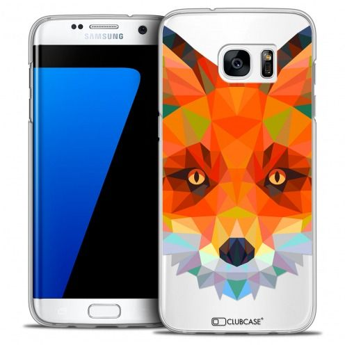 Extra Slim Crystal Galaxy S7 Edge Case Polygon Animals Fox