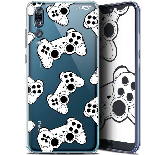 "Extra Slim Gel Huawei P20 Pro (6.1"") Case Design Game Play Joysticks"