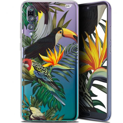 "Extra Slim Gel Huawei P20 Pro (6.1"") Case Design Toucan Tropical"