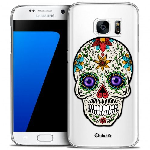 Extra Slim Crystal Galaxy S7 Case Skull Maria's Flower
