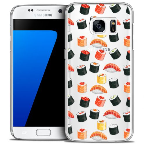 Extra Slim Crystal Galaxy S7 Case Foodie Sushi