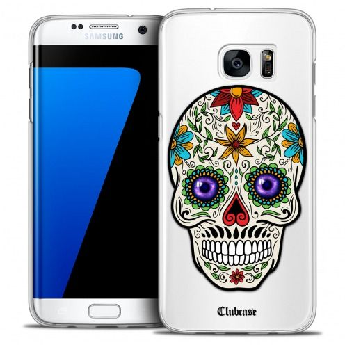 Extra Slim Crystal Galaxy S7 Edge Case Skull Maria's Flower