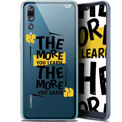 """Extra Slim Gel Huawei P20 Pro (6.1"""") Case Design The More You Learn"""