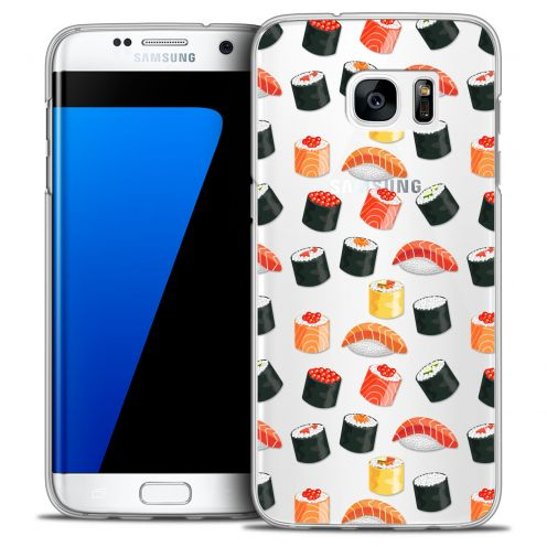 Extra Slim Crystal Galaxy S7 Edge Case Foodie Sushi