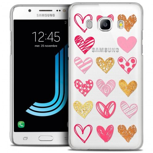 Extra Slim Crystal Galaxy J5 2016 (J510) Case Sweetie Doodling Hearts