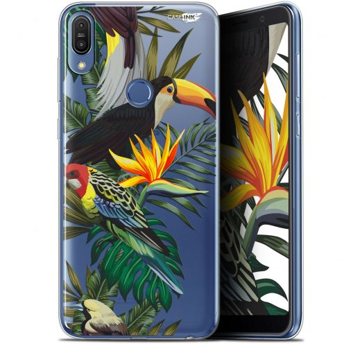 "Extra Slim Gel Asus Zenfone Max Pro (M1) ZB601KL/602KL (6"") Case Design Toucan Tropical"