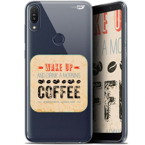 "Extra Slim Gel Asus Zenfone Max Pro (M1) ZB601KL/602KL (6"") Case Design Wake Up With Coffee"