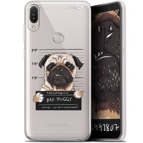 "Extra Slim Gel Asus Zenfone Max Pro (M1) ZB601KL/602KL (6"") Case Design Beware The Puggy Dog"