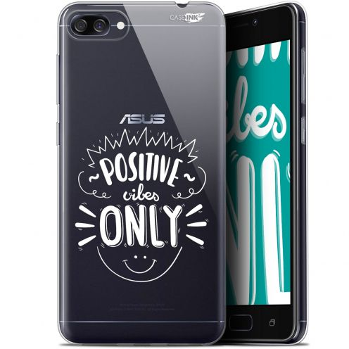 "Extra Slim Gel Asus Zenfone 4 Max ZC520KL (5.2"") Case Design Positive Vibes Only"