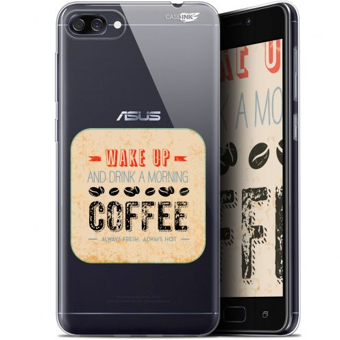 "Extra Slim Gel Asus Zenfone 4 Max ZC520KL (5.2"") Case Design Wake Up With Coffee"
