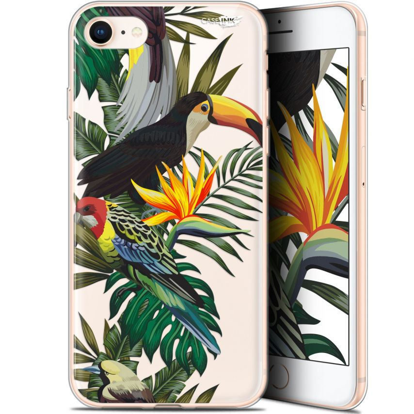 "Extra Slim Gel Apple iPhone 7/8 (4.7"") Case Design Toucan Tropical"