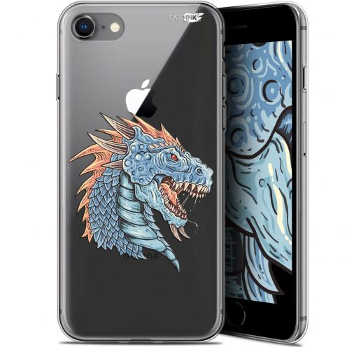 "Extra Slim Gel Apple iPhone 7/8 (4.7"") Case Design Dragon Draw"