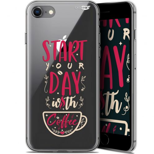 "Extra Slim Gel Apple iPhone 7/8 (4.7"") Case Design Start With Coffee"