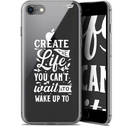 "Extra Slim Gel Apple iPhone 7/8 (4.7"") Case Design Wake Up Your Life"