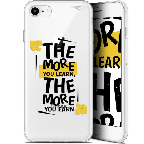 """Extra Slim Gel Apple iPhone 7/8 (4.7"""") Case Design The More You Learn"""