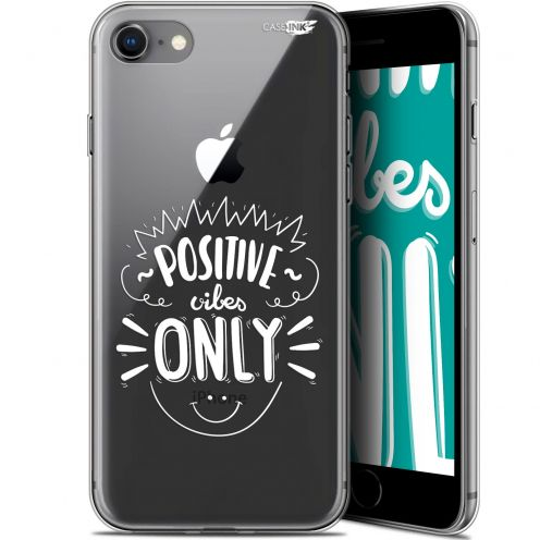 "Extra Slim Gel Apple iPhone 7/8 (4.7"") Case Design Positive Vibes Only"