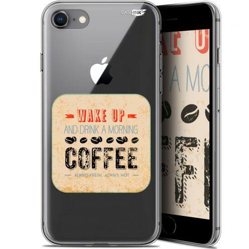 "Extra Slim Gel Apple iPhone 7/8 (4.7"") Case Design Wake Up With Coffee"