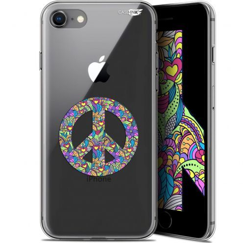 "Extra Slim Gel Apple iPhone 7/8 (4.7"") Case Design Peace And Love"