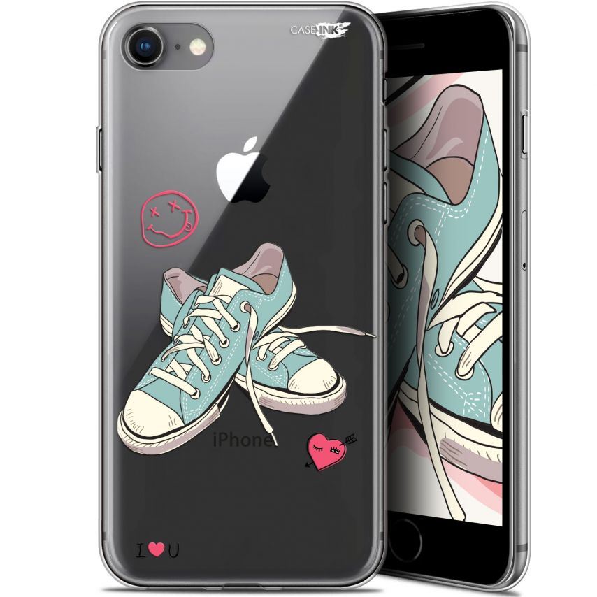"""Extra Slim Gel Apple iPhone 7/8 (4.7"""") Case Design Mes Sneakers d'Amour"""
