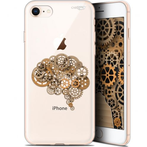 "Extra Slim Gel Apple iPhone 7/8 (4.7"") Case Design Mécanismes du Cerveau"