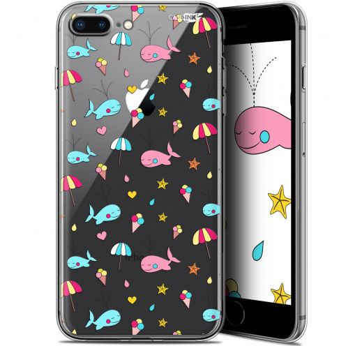 "Extra Slim Gel Apple iPhone 7/8 Plus (4.7"") Case Design Baleine à la Plage"
