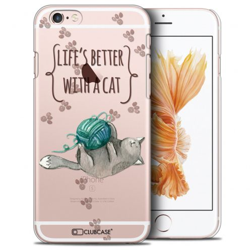 Extra Slim Crystal iPhone 6/6s (4.7) Case Quote Life's Better With a Cat