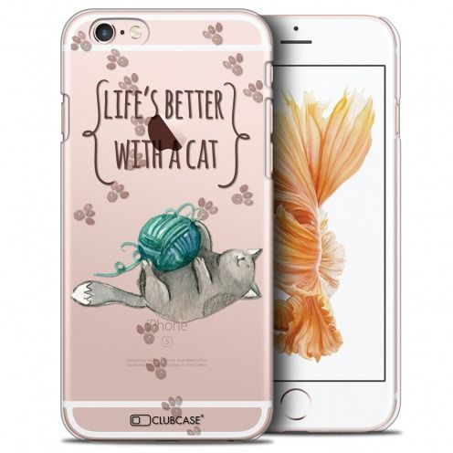 Extra Slim Crystal iPhone 6/6s Plus (5.5) Case Quote Life's Better With a Cat