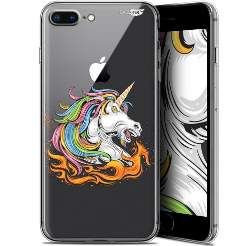 "Extra Slim Gel Apple iPhone 7/8 Plus (4.7"") Case Design Licorne de Feu"