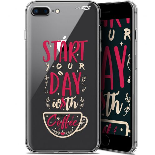 "Extra Slim Gel Apple iPhone 7/8 Plus (4.7"") Case Design Start With Coffee"