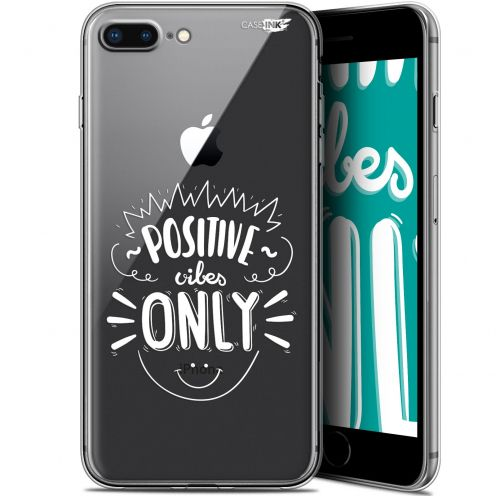 "Extra Slim Gel Apple iPhone 7/8 Plus (4.7"") Case Design Positive Vibes Only"